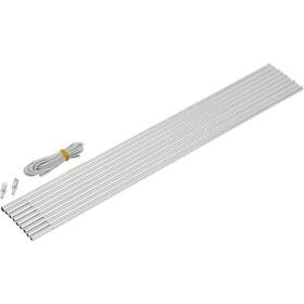 CAMPZ Zestaw pałąków aluminiowym 9,5mm x 4,65m, grey/silver